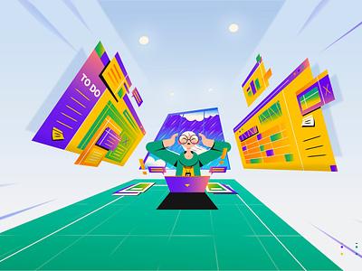To Do business saas tech cloud hewlett packard enterprise hewlett packard hpe motion design motion graphics 2d animation animation explainer video