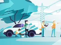 Power mechanics illustrations