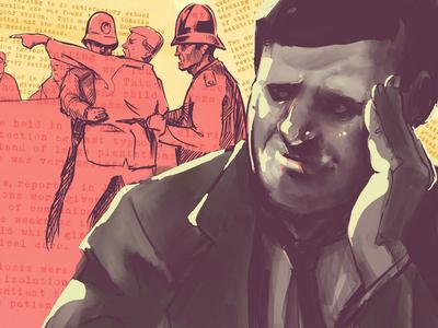 Stress and pressure fascism animation studio art design illustration maurice blackburn australia politician politics animation animated segments documentary