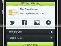 Event Detail iPhone App