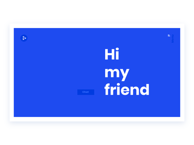 / Lagash / Chatbot welcome home clean minimal electric blue poppins home website chat