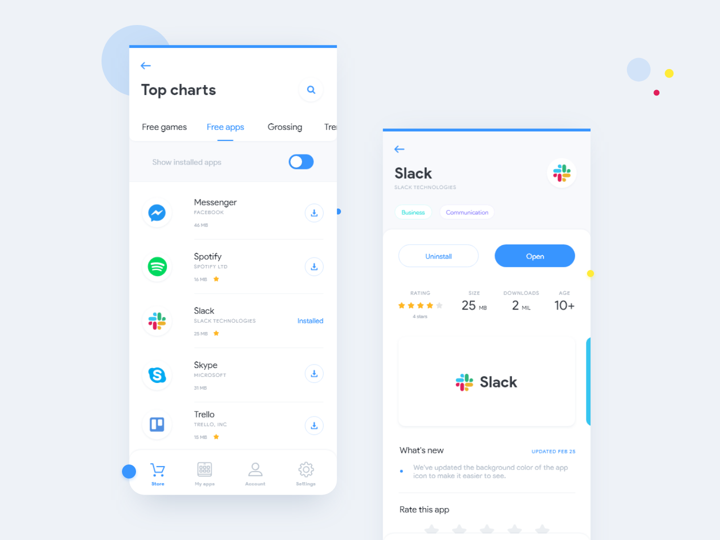 Google Play Store / Redesign by Pablo Monachese on Dribbble