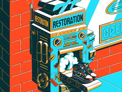 restoration machine hype streetwear vector design art digital art illustrator illustration