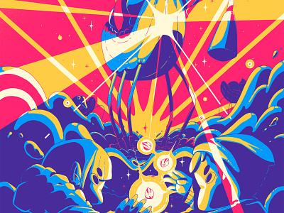banana invasion print ilustración design art digital art illustrator illustration