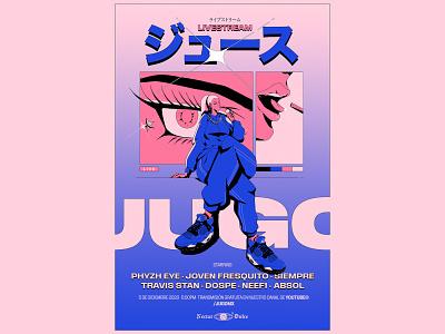 JUGO poster poster art poster print ilustración digital art art vector illustrator design illustration
