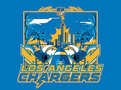 LA CHARGERS city logo ilustración art digital art vector illustrator design illustration