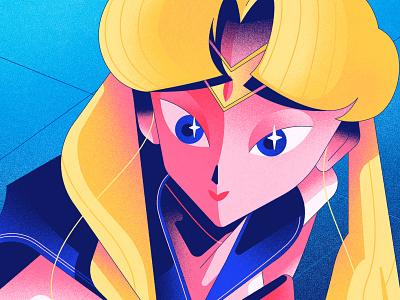 Sailor Moon print digital art ilustración art vector illustrator design illustration