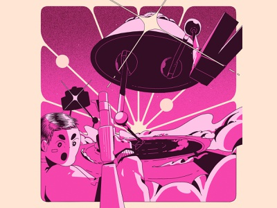 Invasion branding print ilustración illustrator digital art art design illustration