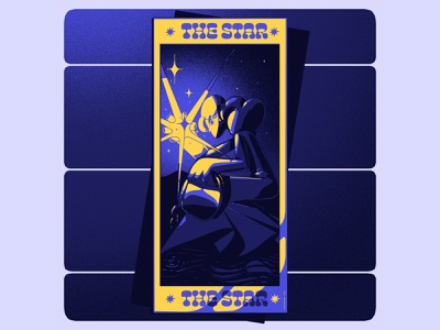 tarot card star motion design magic tarot ilustración digital art art illustrator design illustration