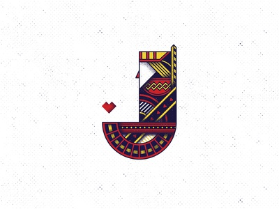 J of jack sintetic vector illustration jack poker type