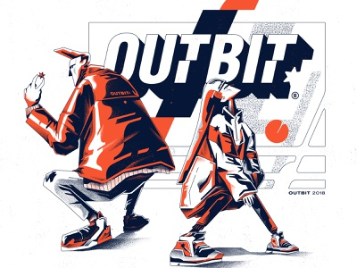 OUTBIT/ team digital art art streetwear illustrator ilustración vectorart sintetic vector design type illustration