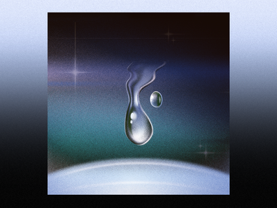 Aqua dropdown star space shine water 80s aqua drop design album pink ozoyo blue purple hellodribbble dribbble illustration hello
