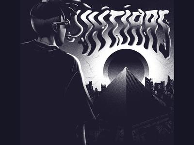 Ihtiras Cover grain 1984 illuminati white rap smoke ruin city sun eye pyramid cover black design album ozoyo hellodribbble dribbble illustration hello