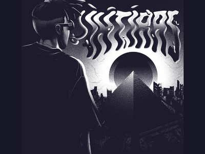 Ihtiras Cover grain 1984 illuminati white rap smoke ruin city sun eye pyramid cover black design album ozoyo hellodribbble dribbble illustration hello