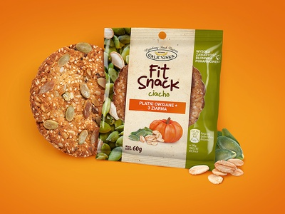 Fit snack cookie #1 backery healthy food label poland packaging minimal snack logo letteing label design cookie granola