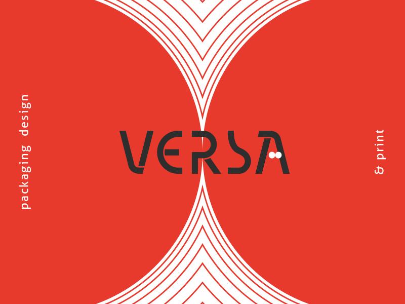 Logo for Versa design studio custom packaging identification print polska branding creative logotype design logo agency