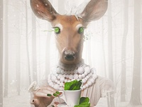 Would you like a cup of tea, deer ?
