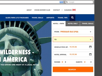 Travel Website travel interface ui search