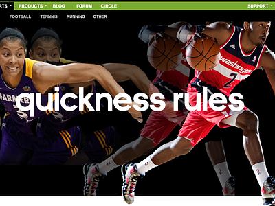 Basketball Page Design ui experience design web design page design