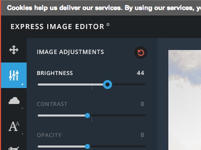 Webapp Image Editor ui experience design web design webapp design interface webapp web app