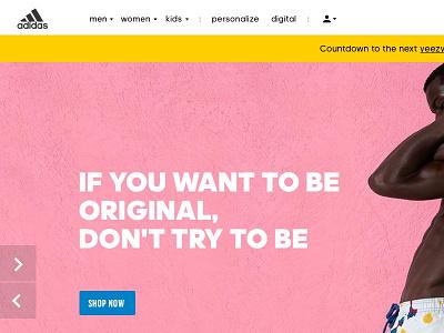 Adidas Ecom Concept user interface ui product design concept