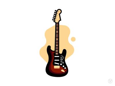 Steezy Guitars - SRV Strat icon illustrator strat guitar