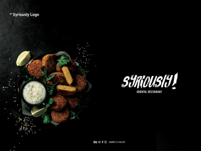 Syriously  logo design animation restaraunt arabic ident visual food ui type minimal logo lettering ios illustrator illustration identity flat design branding brand art