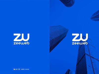 Zee Web logo arabic logo app vector ux arabic animation ui type minimal logo lettering ios illustrator illustration identity flat design branding brand art