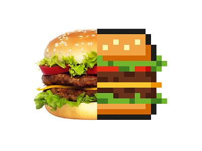 Barkas Burger pixels kaspersky barkas russia moscow provincestudio restaurant