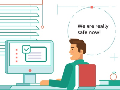 Kaspersky Lab. Illustration tomsk moscow guideline safety antivirus kaspersky russia illustration lovemedo