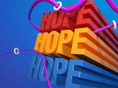 HOPE | 3D graphic design ui 3d