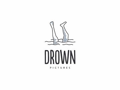 sinking mark picture death symbol sink water creative logo drown