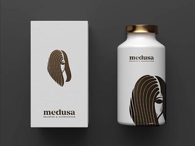 Medusa medusa branding horror packaging snake death woman black