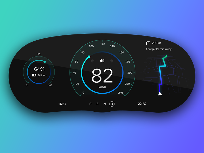 electric car dashboard ui weekly challenge s02w04 by viliam