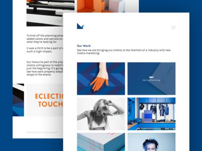 MTB Media Portfolio Page web responsive layout ui landing gallery marketing