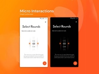 Select Rounds - Micro Interactions Design