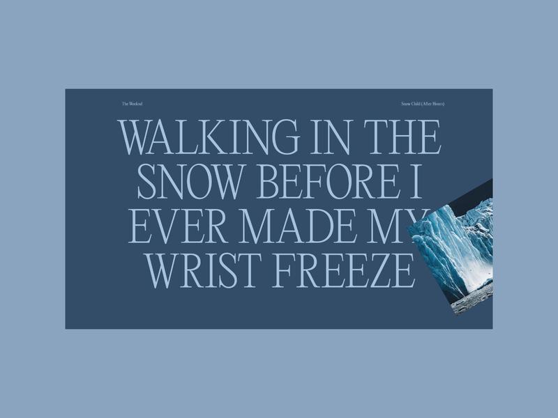 Warmup — Snow Child