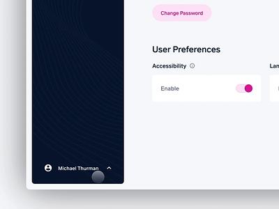 User Menu —Subnav prototyping prototype navbar navigation nav subnav product design interaction interactive uix uiux protopie figma
