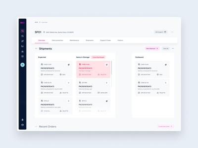 Shipping Widget data center webdesign webapp web product design product ux ui uiux design