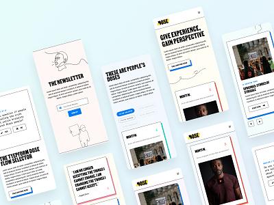 Dose —Mobile Screens product figma web design product design type color ux ui uiux design