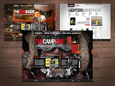 Zippo Website web design custom application ux
