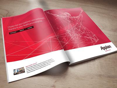 Appian Magazine Ad layout creative direction design print advertising magazine