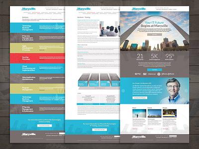Maryville Website creative direction branding ux design website