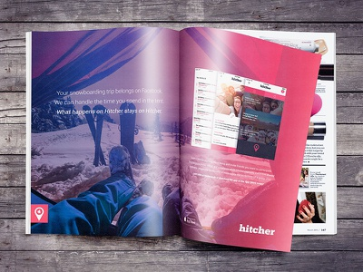 Hitcher - Anti-Social Network Campaign Ad layout creative direction design print advertising magazine