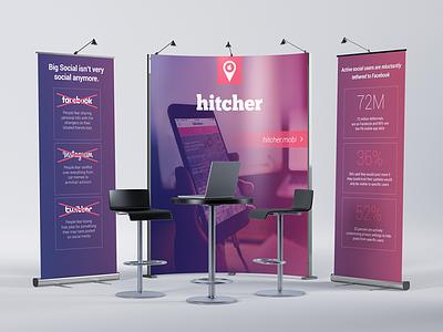 Hitcher Booth trade show branding print event marketing