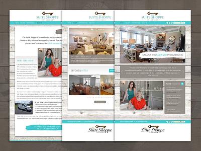 The Suite Shoppe Website creative direction branding ux design website
