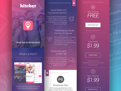 Hitcher Mobile Site creative direction branding ux design website mobile