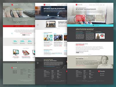 Personify Website Comps creative direction branding ux design website