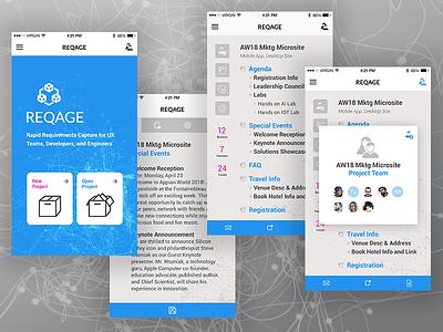 REQAGE - Rapid Requirements Capture App prototyping design ux software platform mobile app product development