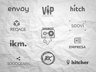 Random App & Startup Logos typography iconography logos